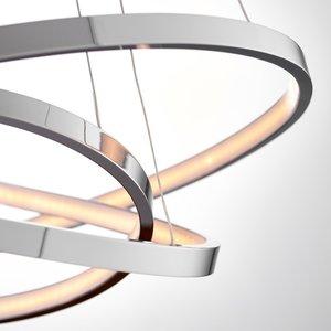 Endon Kline 3 ring pendant 36W warm white - chrome plate