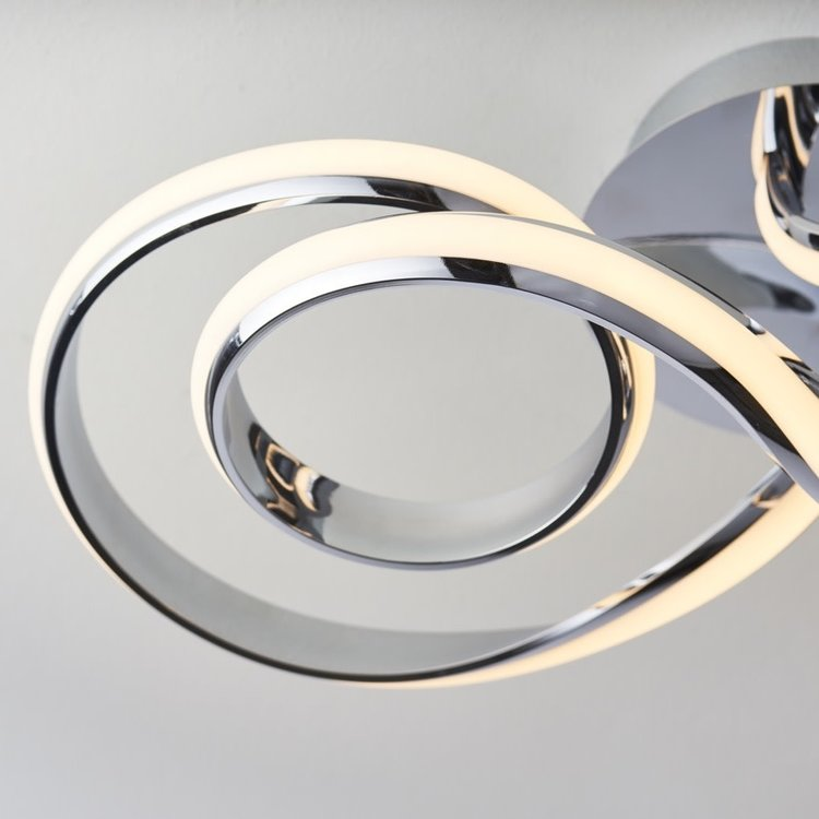 Endon Aria semi flush  36W warm white - chrome plate