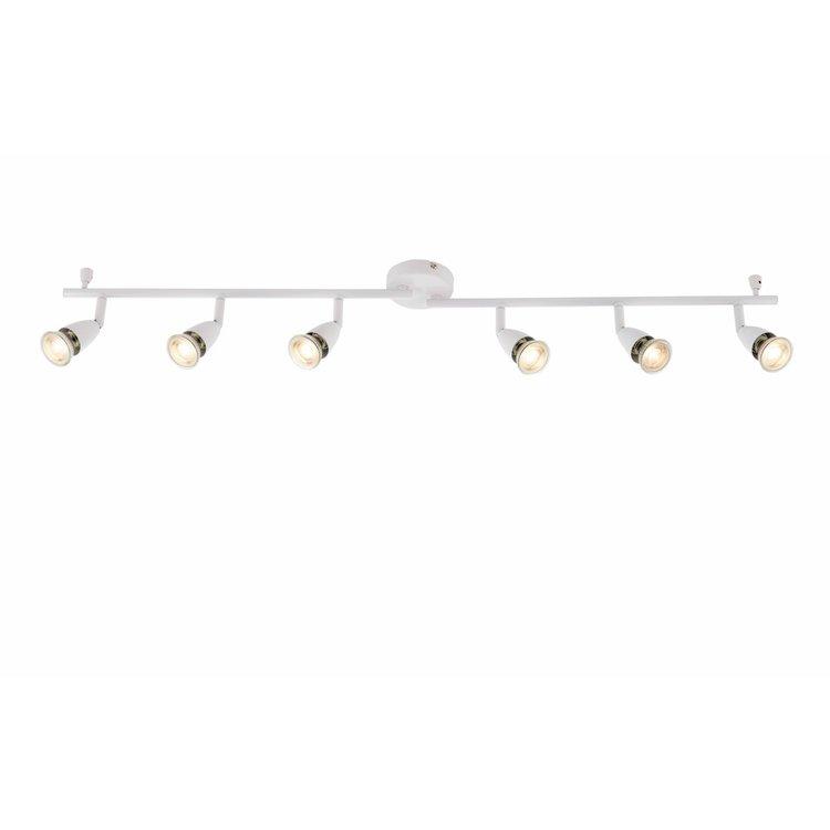 Saxby Amalfi 6lt bar 50W spot - gloss white