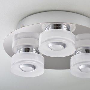 Endon Rita 3lt flush IP44 4.5W & 0.45W SW warm white - chrome plate