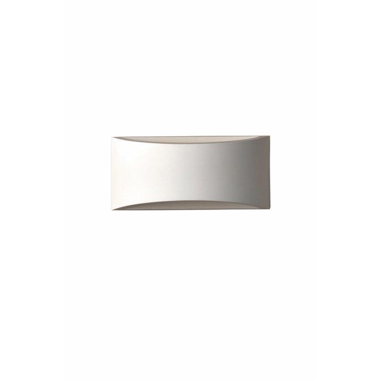 Saxby Toko 1LT 300MM Wall 3W Warm White - White Plaster