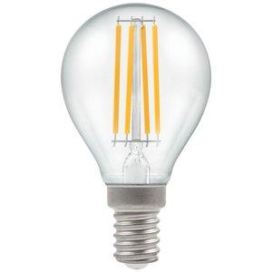 Crompton LED Round Filament Clear 6.5W 2700K SES-E14