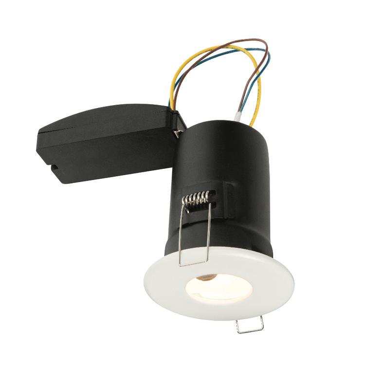 Saxby Shieldplus Mv IP65 50W Recessed - Matt White
