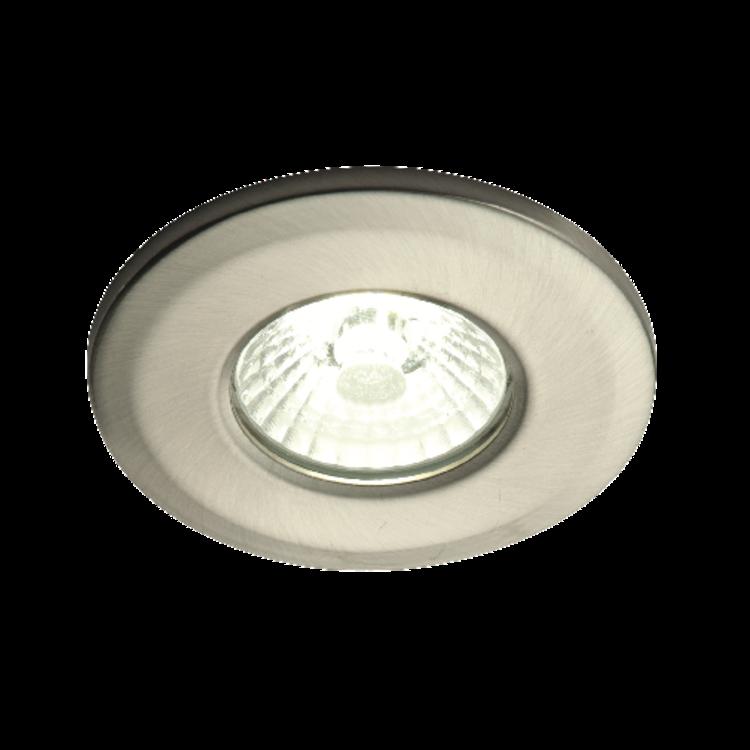 Saxby ShieldLED 400 Fixed IP65 4.5W Warm White Recessed - Satin Nickel