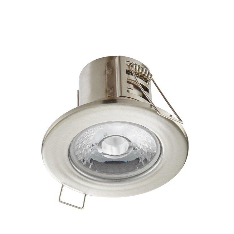 Saxby Shieldeco IP65 4W Warm White Recessed - Satin Nickel