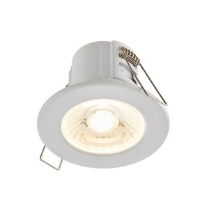 Saxby Shieldeco IP65 4W Warm White Recessed - Matt White
