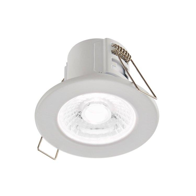 Saxby Shieldeco IP65 4W Cool White Recessed - Matt White