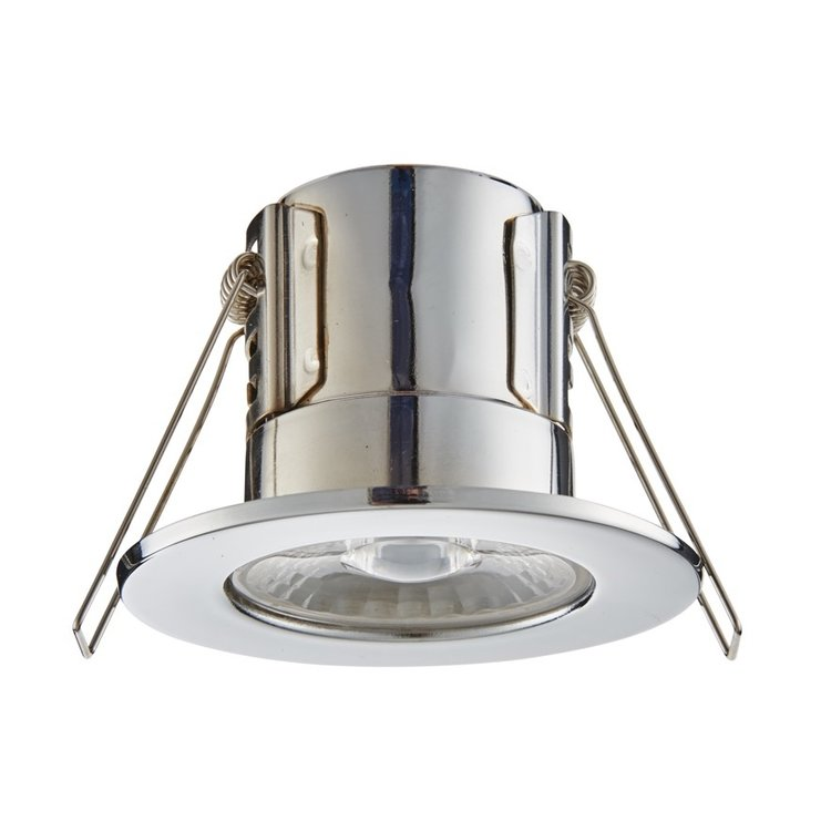 Saxby Shieldeco IP65 4W Cool White Recessed - Chrome Plate