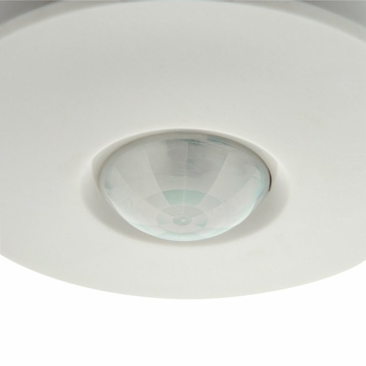Saxby PIR Presence Detector Flush Accessory - Gloss White PC