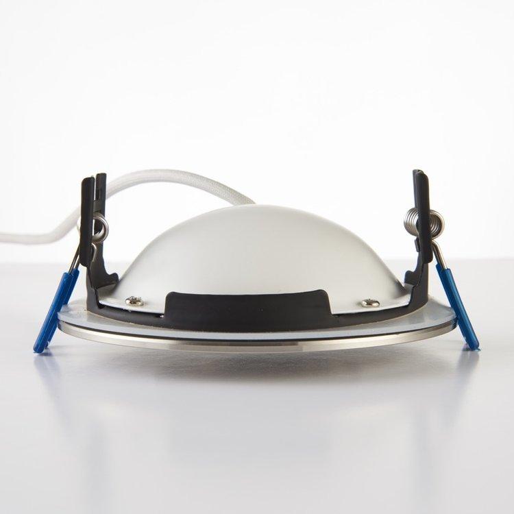 Saxby Orbitalplus IP65 9W Warm White Recessed - Satin nickel
