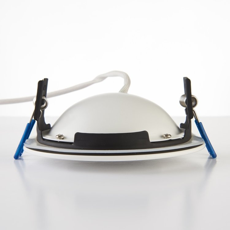 Saxby Orbitalplus IP65 9W Warm White Recessed - Matt White
