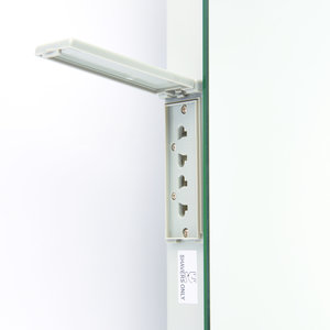 Saxby Omega Shaver Mirror IP44 1.5W SW Wall - Mirrored Glass