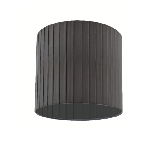 12'' Highclere pleated cylinder shade Charcoal