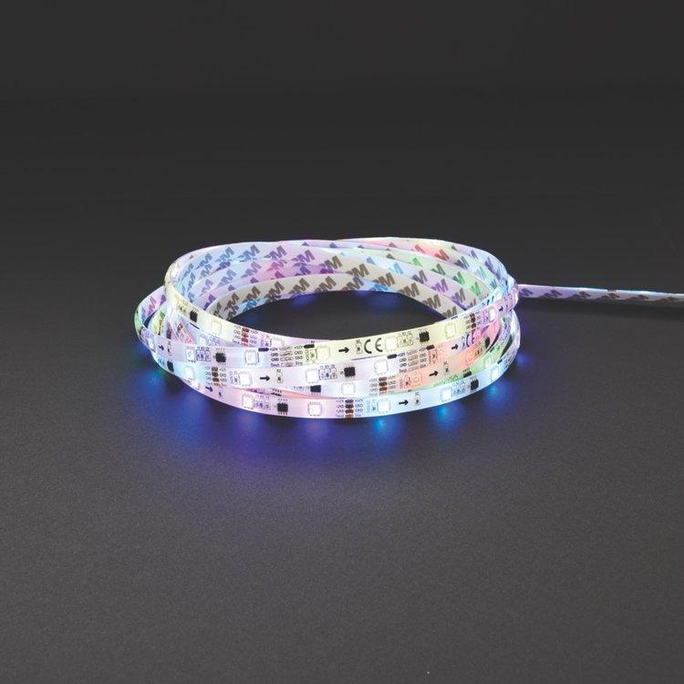 Saxby Aqualine 12V Premium 5M RGB Kit IP44 24W SW RGB Cabinet - White Plastic