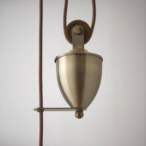 Endon Polka R&F pendant - A.brass