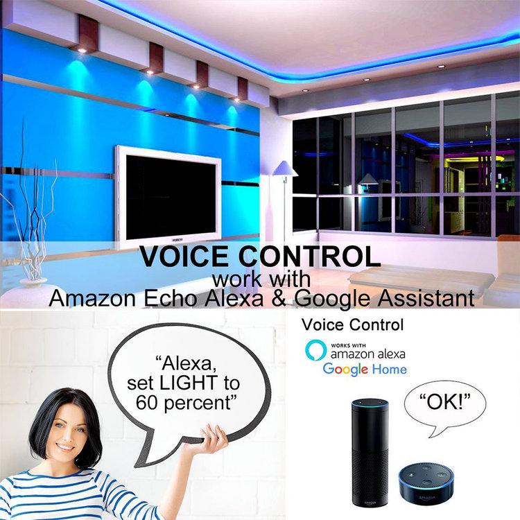 Ener-J Ener-J Smart WiFi RGB CCT Changing LED Strip Kit 5m