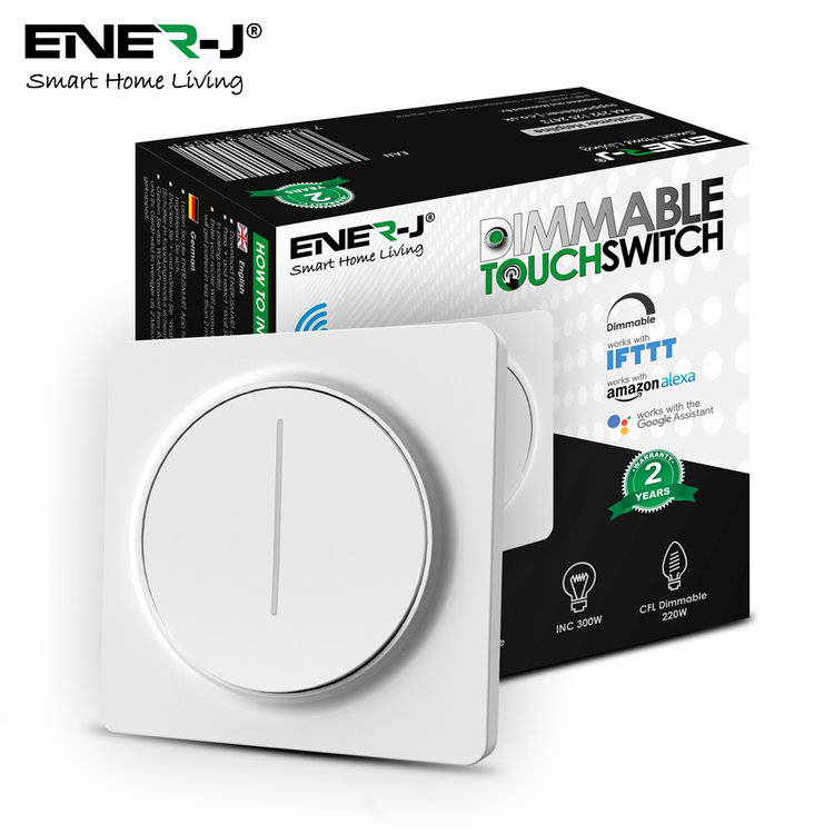 Ener-J Ener-J Smart Wi-Fi 1 Gang Dimmable Touch Switch