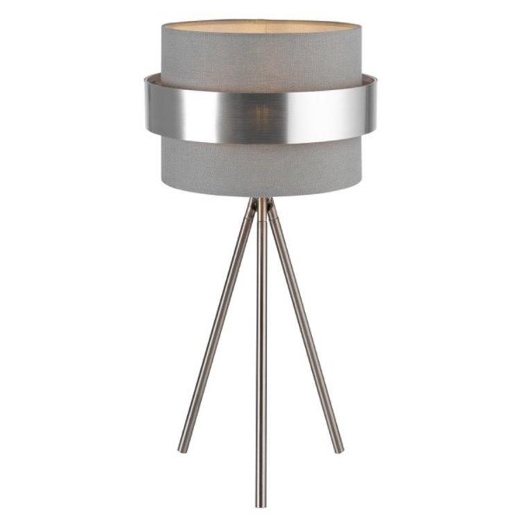 Joey Table Lamp Grey/Silver