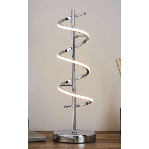 Twirl 10W LED Table Lamp Chrome