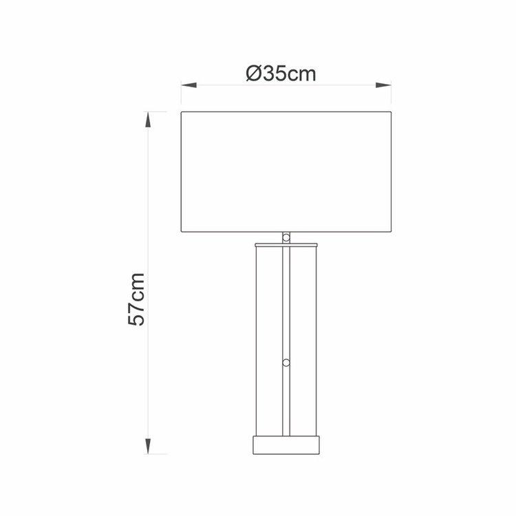 Endon Lessina table - nickel