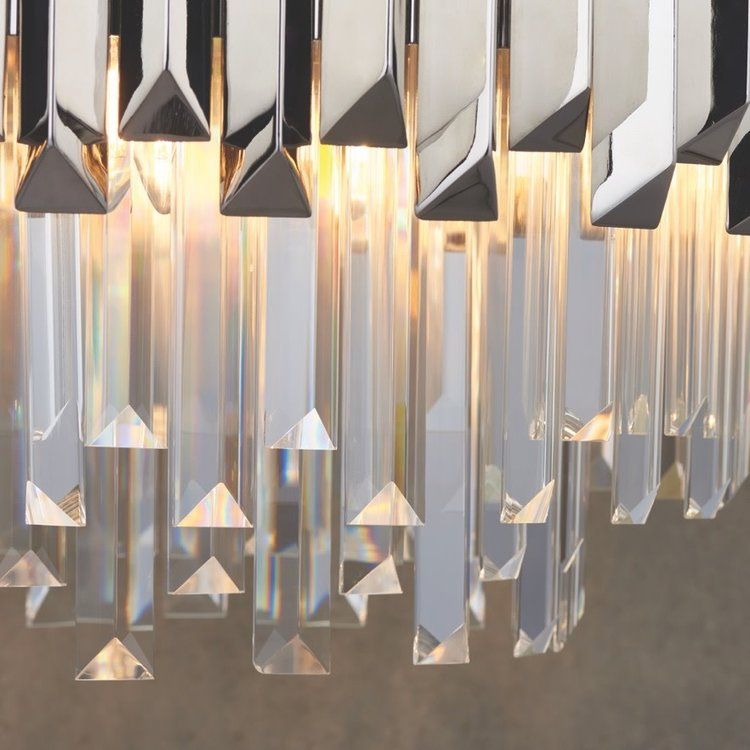 Endon Valetta 6lt pendant 40W - clear crystal glass