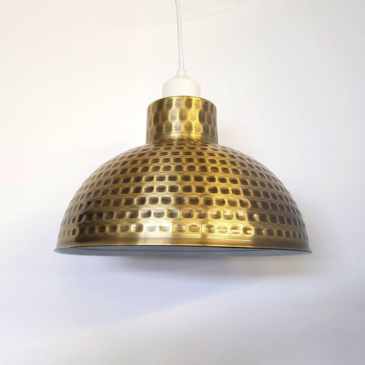 Poole Lighting Hammered Pendant Gold