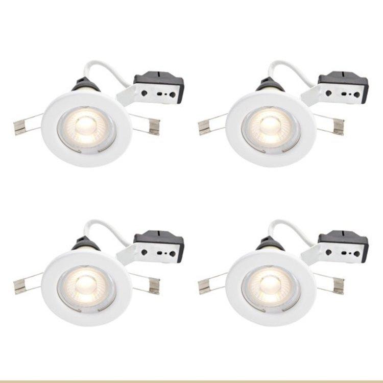 Fixed Downlight LED GU10 White 4 Pack