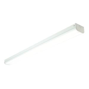 Saxby Linear 4ft Twin 40.5W cool white flush - opal pc