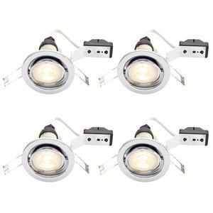 Tilt Downlight LED GU10 Chrome 4 Pack