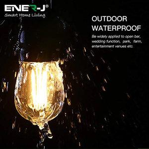 Ener-J Ener-J LED Filament Bulb String Light Kit 14.6M