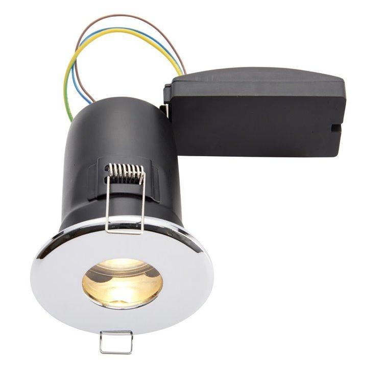 IP65 Fire Rated Cast Fixed LED GU10 Chrome