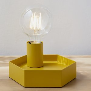 Hex lamp mustard