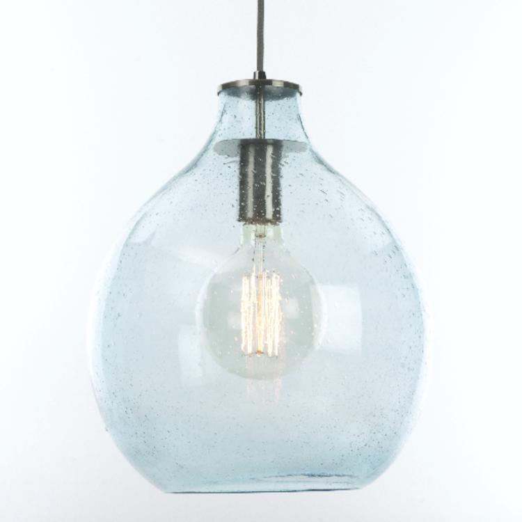 Lesley Blue Glass Pendant