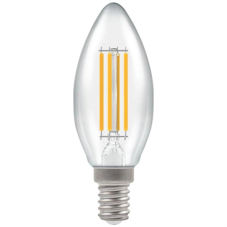 Crompton LED Candle Filament Clear 6.5W 2700K SES-E14