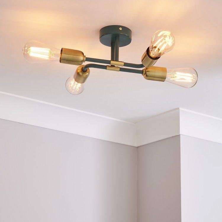 Poole Lighting Stacy 4lt Semi Flush