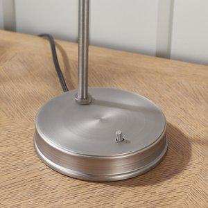 Endon Hansen Task Table Brushed Silver