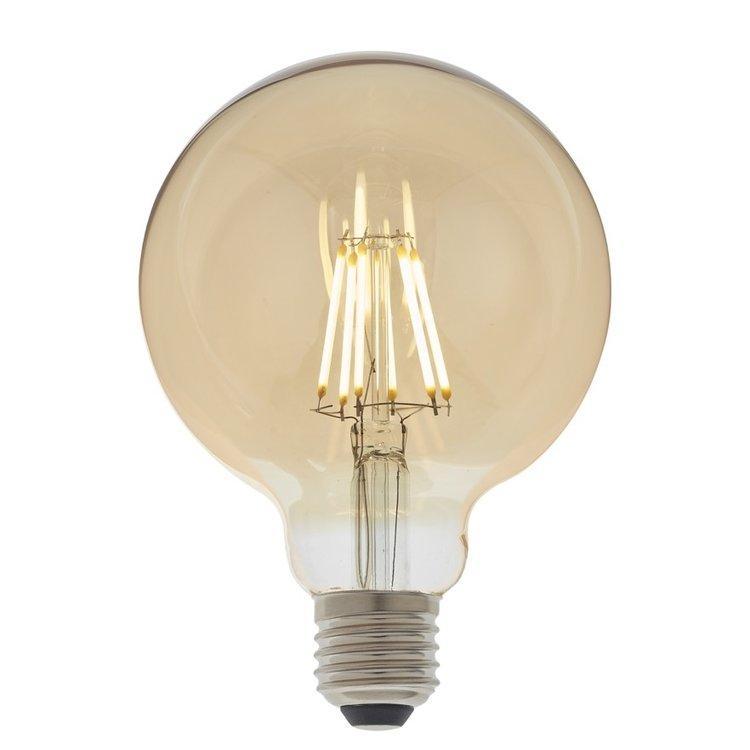 Endon E27 LED filament globe 95mm Amber
