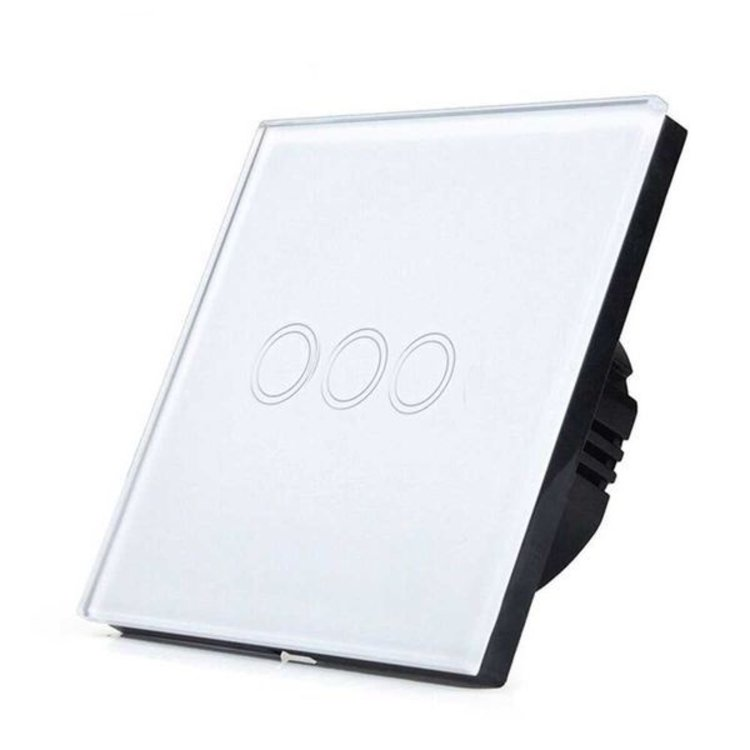 Ener-J Ener-J Smart 3 Gang Touch Glass Switch  ( NO NEUTRAL NEEDED )