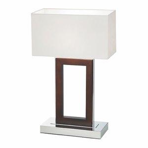 Endon Portal table 60W SW - dark wood