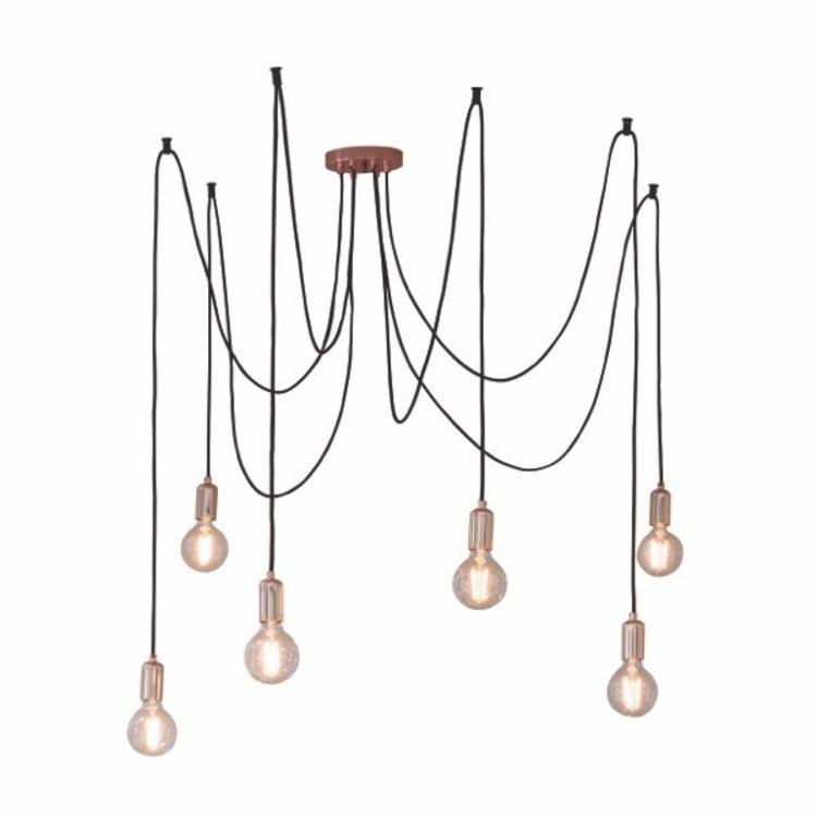 Endon Studio 6lt pendant - copper