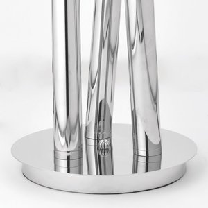 Endon Glacier 3lt floor 2W SW warm white - polished stainless steel