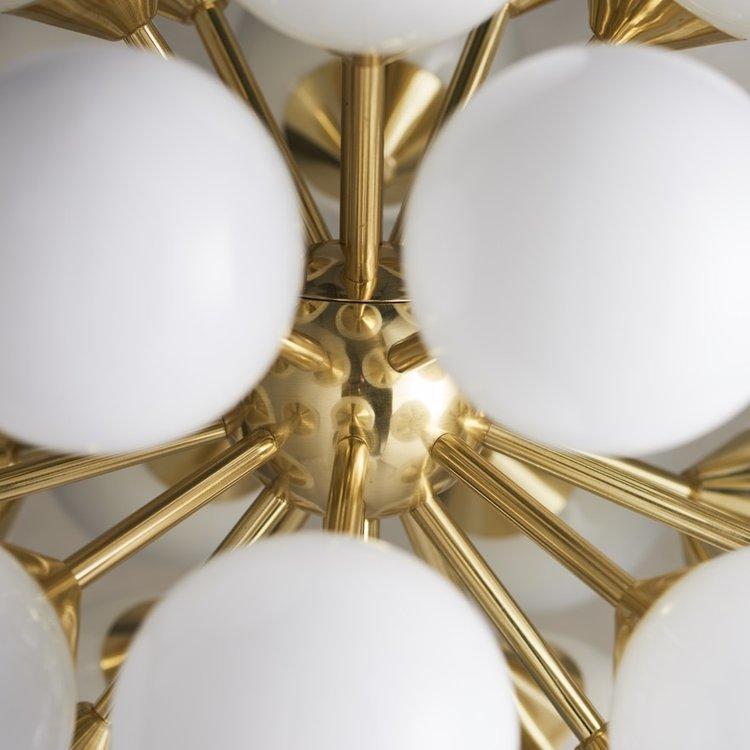 Endon Oscar 28lt pendant - Br.gold