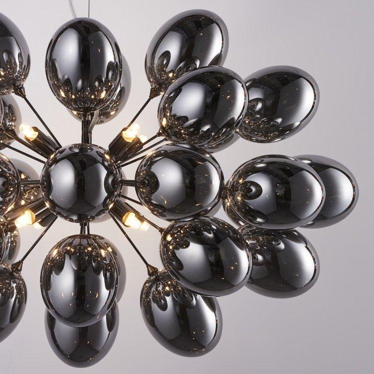 Endon Infinity 8lt pendant - Blk chrome