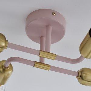 Poole Lighting Stacy 4lt Semi Flush Pink