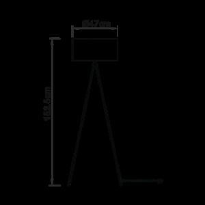 Endon Tri floor - nickel