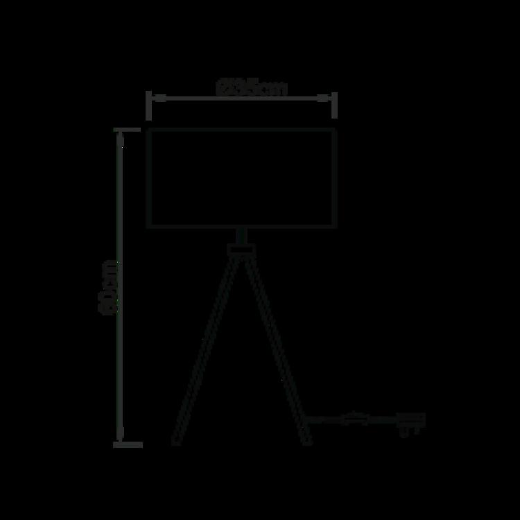Endon Tri table - nickel