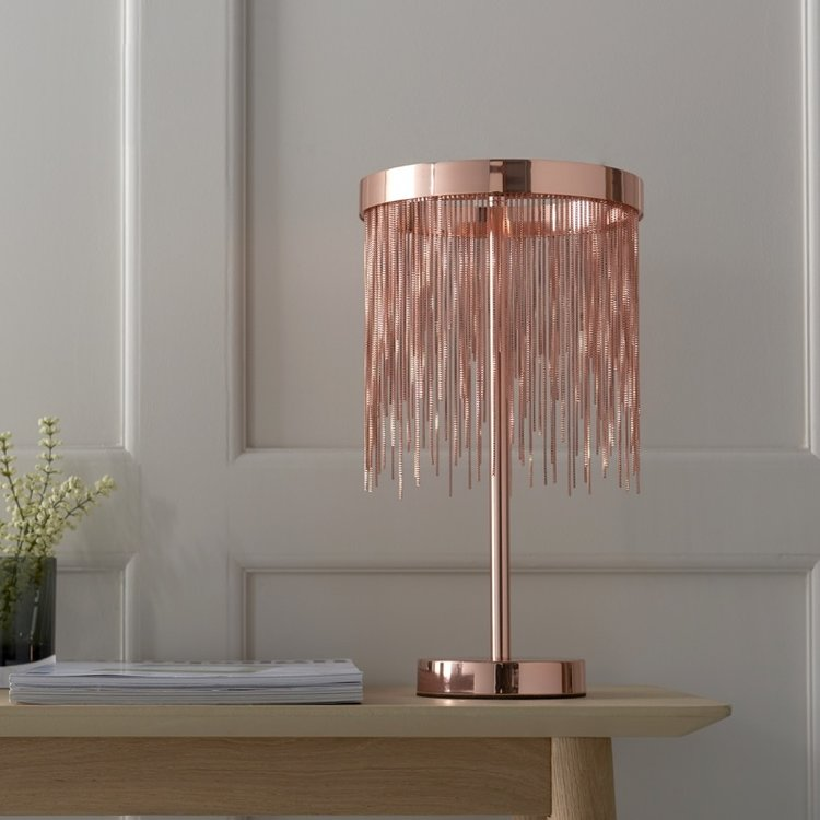 Endon Zelma Table - Copper