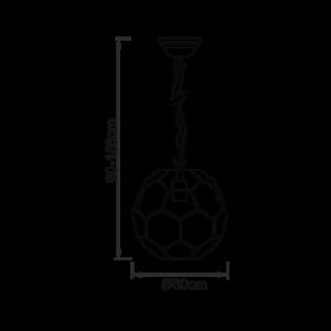 Endon Miele 1lt Pendant - A Brass