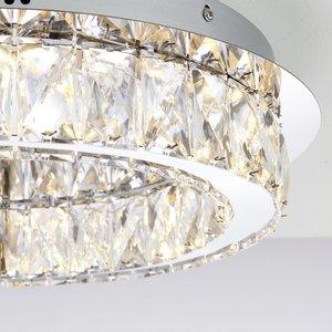 Endon Swayze flush 16W warm white - chrome plate