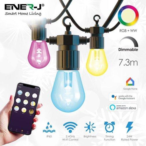Ener-J Ener-J Smart LED Colour Changing String Lights Kit 23 Feet